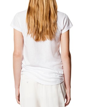 Zadig & Voltaire - Heart Embellished Skinny Tee