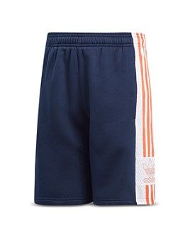 Adidas - Girls' Side-Stripe Fleece Basketball Shorts - Big Kid