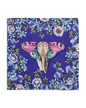 Eton - Floral Elephant Pocket Square