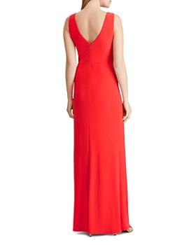 Ralph Lauren - Draped Brooch-Detail Gown