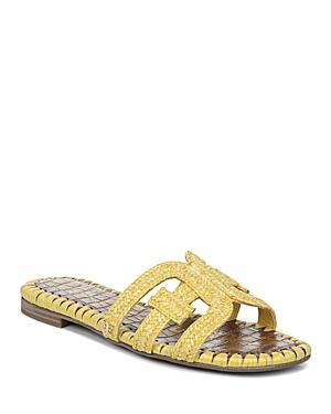 Sam Edelman Sandals WOMEN'S BECKIE WOVEN SLIDE SANDALS