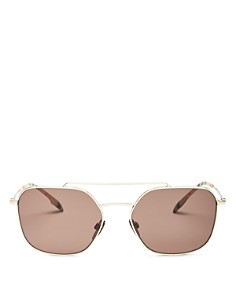 Burberry - Men's Brow Bar Square Sunglasses, 56mm