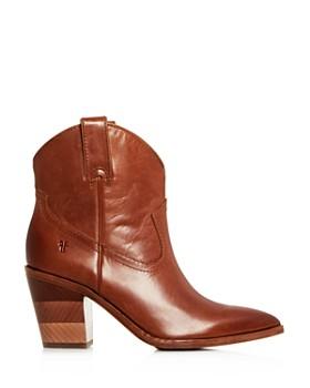 Frye - Women's Faye Chevron Western High-Heel Booties