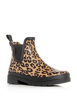 Tretorn - Women's Lina Leopard-Print Rain Chelsea Boots