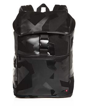 STATE - Bennett Camo Coated Canvas Backpack