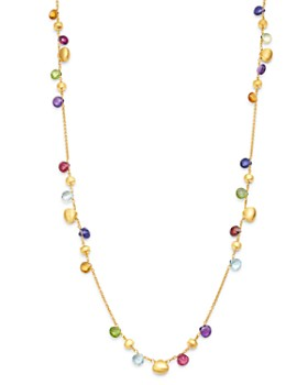 Marco Bicego - 18K Yellow Gold Paradise Multi-Gemstone Beaded Collar Necklace, 16""