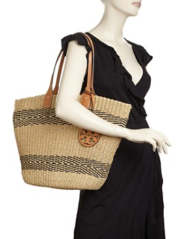 Tory Burch - Miller Straw Striped Tote