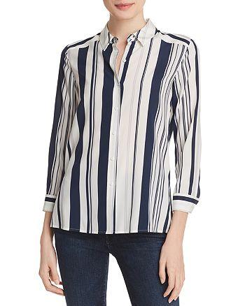 Relative Pi - Striped Silk Blouse