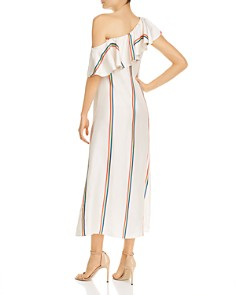 Paper London - Chi Chi Striped Silk Maxi Dress