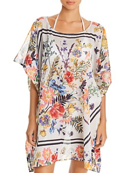 Echo - Floral Status Caftan Swim Cover-Up