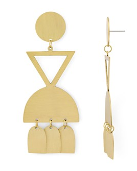 Area Stars - Geometric Drop Earrings