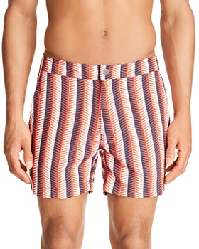 Onia - Calder Geometric-Striped Swim Trunks
