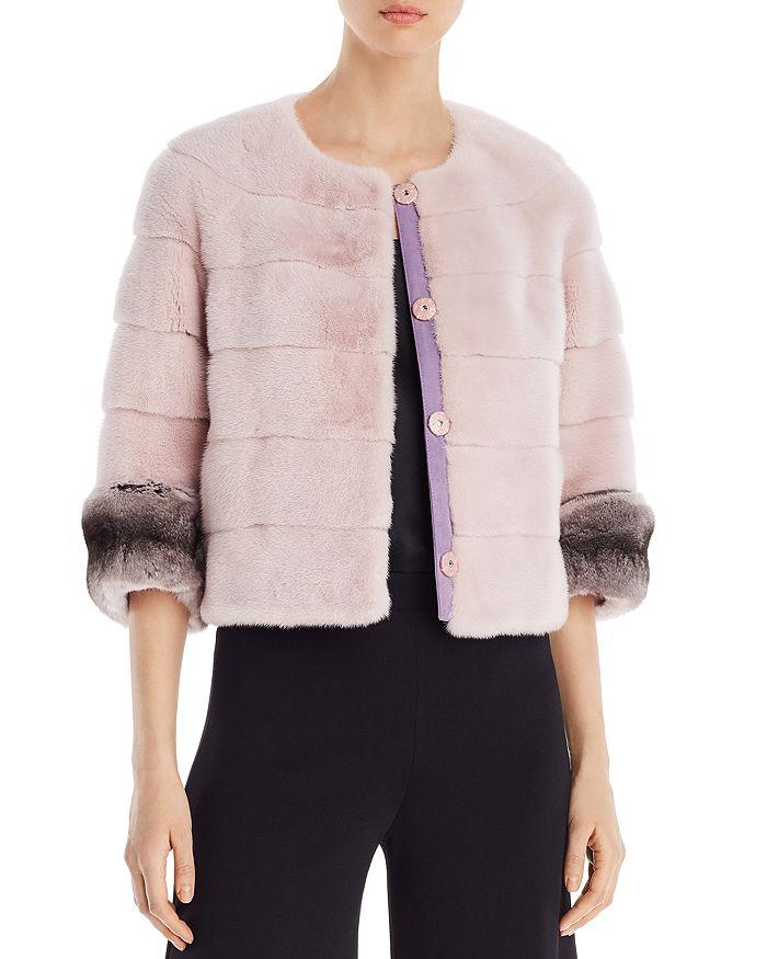Maximilian Furs - Short Mink & Chinchilla Fur Coat - 100% Exclusive