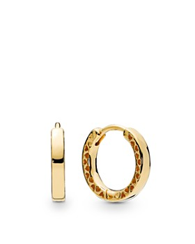 86065a950 Pandora - Gold Tone-Plated Sterling Silver Shine Hoop Earrings