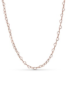 Pandora - Rose Gold Tone-Plated Sterling Silver Joined Hearts Necklace