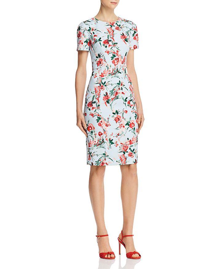 Black Halo - Jodee Watercolor Floral Sheath Dress