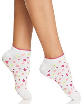 kate spade new york - Floral-Print No-Show Socks