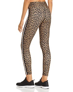 AQUA - Track Stripe Leopard Print Leggings - 100% Exclusive