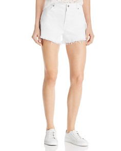 7 For All Mankind - Cutoff Denim Shorts in Clean White