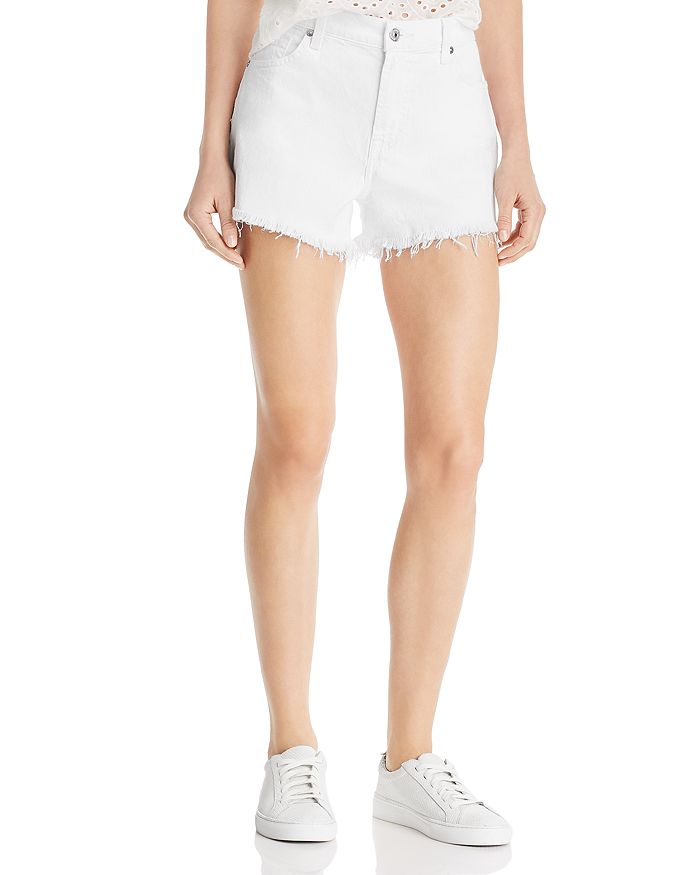 7 For All Mankind - Cutoff Denim Shorts in Clean White