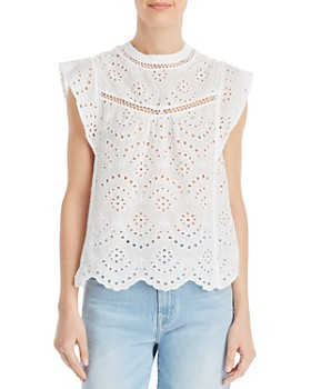 b64b69e0fa42fc 7 For All Mankind - Eyelet Lace Top ...