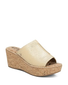 Sam Edelman - Women's Ranger Cork Wedge Heel Slides