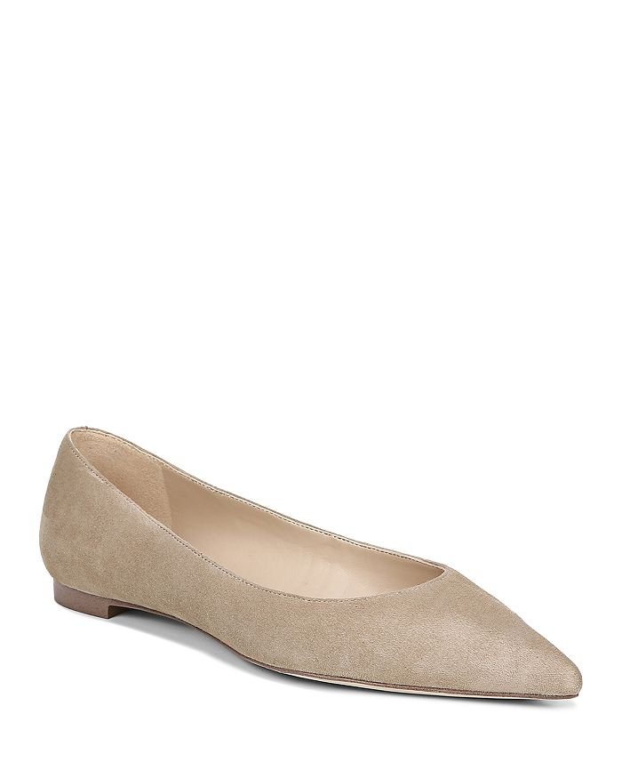 Sam Edelman Flats WOMEN'S SALLY POINTED TOE SUEDE FLATS