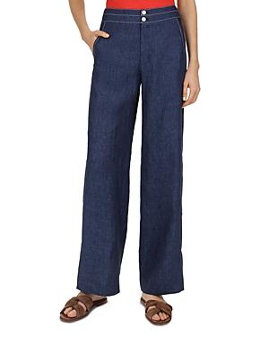 Gerard Darel Nel Linen Wide-Leg Pants
