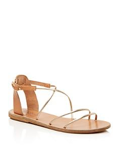 Ancient Greek Sandals - Women's Melovia Metallic Strappy Sandals
