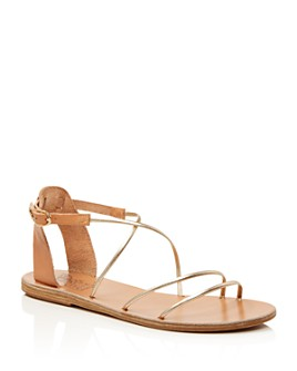 Ancient Greek Sandals - Women's Melovia Metallic Strappy Sandals