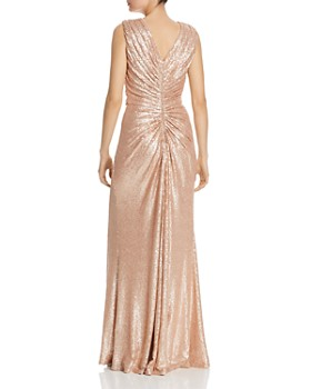 Tadashi Petites - Ruched Sequin Gown