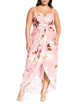 643e3ba3e5 City Chic Plus - English Rose Sleeveless Maxi Dress ...