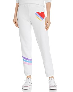 AQUA - Striped-Heart Sweatpants - 100% Exclusive