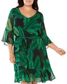 Estelle Plus - Palm Springs V-Neck Dress