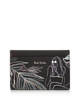 Paul Smith - Men's Beach Sketch Leather Card Case