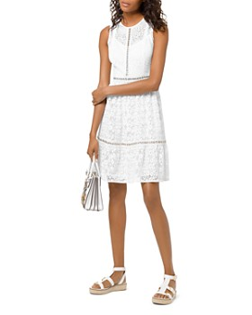 c768ad1ad MICHAEL Michael Kors - Grommeted Floral-Lace Dress ...