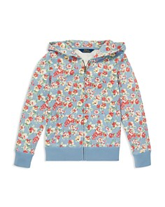 Ralph Lauren - Girls' Floral French Terry Hoodie - Big Kid