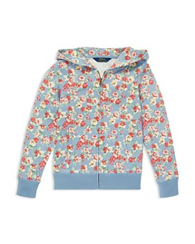Ralph Lauren - Girls' Floral French Terry Hoodie - Big Kid