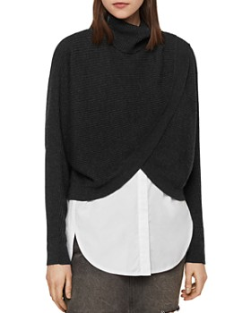 a80d2f9b8d ALLSAINTS - Marais Layered-Look Turtleneck Sweater ...