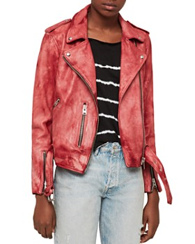 ALLSAINTS - Balfern Tie-Dye Leather Biker Jacket