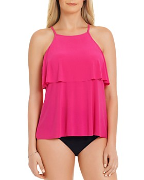 Magicsuit - Solid Julia Tankini Top & Solid High Waist Bikini Bottom