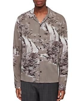 ALLSAINTS - Java Tiger Print Lightweight Slim Fit Shirt