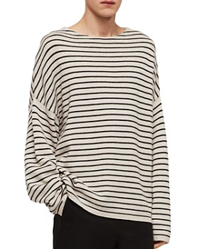 007ca190 ALLSAINTS - Marty Striped Crewneck Sweater ...