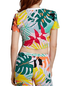 Adidas - Cropped Tropical-Print Tee