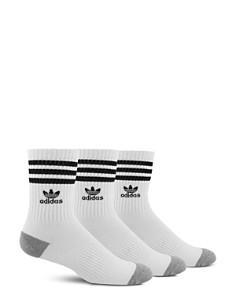 Adidas - Striped Logo Socks - Pack of 3