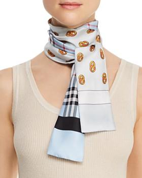 Burberry - Vintage Check & Links Silk Skinny Scarf