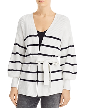 Frame Sweaters STRIPED WRAP SWEATER
