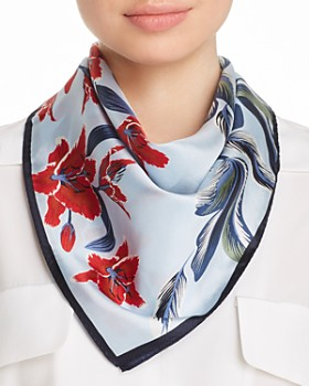 Echo - Tropical Palms Silk Scarf