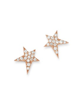 OWN YOUR STORY - 14K Rose Gold Cosmos Diamond Rockstar Stud Earrings