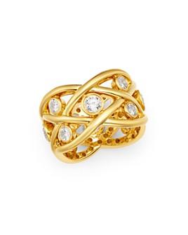 Roberto Coin - 18K Gold Baci Diamond Eternity Ring